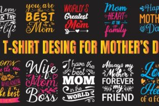 Mother's Day Best T-Shirt Designs Bundle By fatima.tara9290