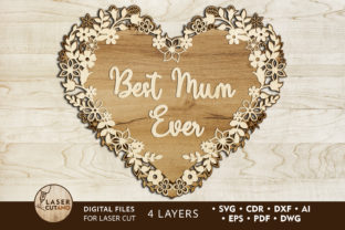 Print on Demand: Multilayer Cut File MOTHERS DAY Graphic 3D SVG By LaserCutano