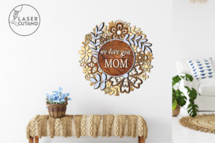 Print on Demand: Multilayer Cut File MOTHERS DAY Graphic 3D SVG By LaserCutano 2