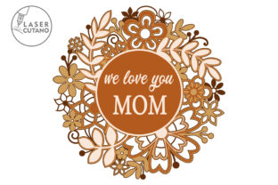 Print on Demand: Multilayer Cut File MOTHERS DAY Graphic 3D SVG By LaserCutano 3