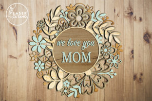 Print on Demand: Multilayer Cut File MOTHERS DAY Graphic 3D SVG By LaserCutano 5