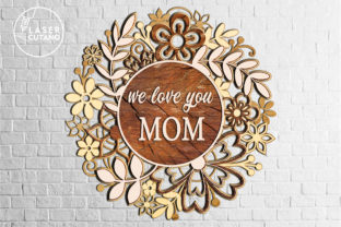 Print on Demand: Multilayer Cut File MOTHERS DAY Graphic 3D SVG By LaserCutano 6