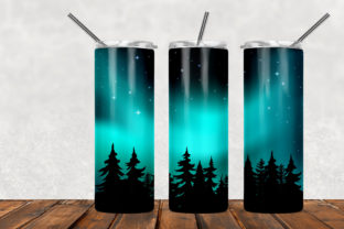 Northern Lights 20oz Skinny Tumbler Graphic Patterns By Army Custom