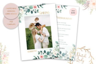 Print on Demand: PSD Photography Mini Session #78 Graphic Print Templates By daphnepopuliers