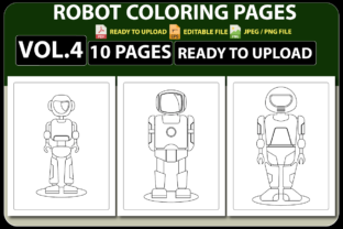 ROBOT COLORING PAGES for KIDS VOL.04 Graphic Coloring Pages & Books Kids By triggeredit