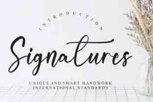 Print on Demand: Signatures Script & Handwritten Font By Misterletter.co
