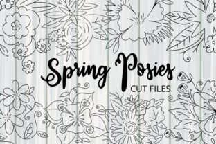 Print on Demand: Spring Flower Posies Cut Files Graphic Crafts By Prawny