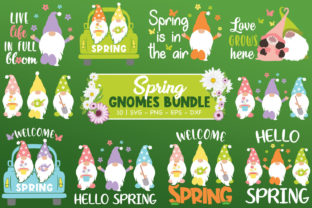 Print on Demand: Spring Gnomes Bundle, Gnome Svg, Spring Graphic Crafts By All About Svg