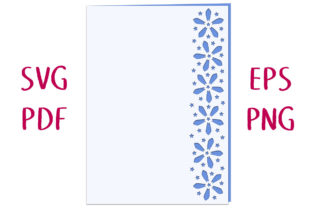 Star Flower Lace Edged Card SVG Cut File Graphic 3D SVG By Nic Squirrell