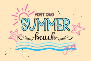 Print on Demand: Summer Beach Script & Handwritten Font By wahyu studio