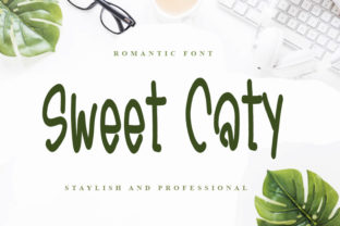 Print on Demand: Sweet Caty Display Font By FL Space