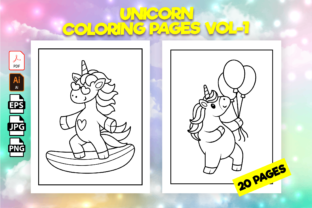 Print on Demand: Unicorn Coloring Pages for Kids  Vol-1 Graphic Coloring Pages & Books Kids By Kristy Coloring