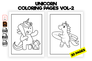 Print on Demand: Unicorn Coloring Pages for Kids - Vol-2 Graphic Coloring Pages & Books Kids By Kristy Coloring