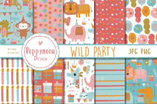 Print on Demand: Wild Party Paper Set Graphic Patterns By poppymoondesign