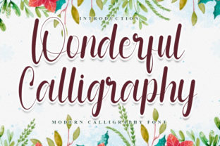 Print on Demand: Wonderful Calligraphy Script & Handwritten Font By FreshTypeINK