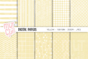 Yellow Candy Color Digital Papers Graphic Backgrounds By Mutchi Design