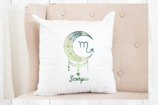 Print on Demand: Zodiac Crescent Moon, Astrological Svg Graphic Print Templates By dadan_pm 3