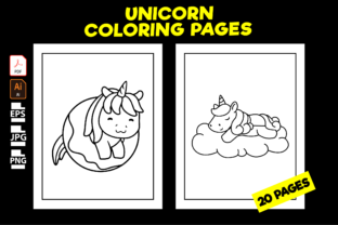 Print on Demand: 20 Cute Unicorn Coloring Pages for Kids Graphic Coloring Pages & Books Kids By Kristy Coloring