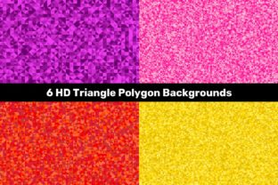 6 HD Triangle Polygon Backgrounds Graphic Backgrounds By davidzydd