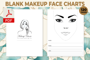 Print on Demand: Blank Makeup Face Charts KDP Interior Graphic KDP Interiors By Design invention
