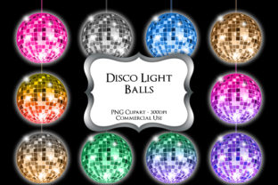 Print on Demand: Disco Balls Clipart Graphic Illustrations By Party Pixelz