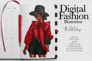 Print on Demand: Fashion Girl Boss Afro Girls Set Graphic Illustrations By TheGGShop