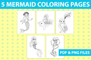 Print on Demand: KDP COLORING PAGES - MERMAID COLORING Graphic Coloring Pages & Books Kids By Mah Moud