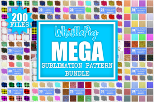 Print on Demand: Mega Sublimation Pattern Bundle Clipart Graphic Crafts By Whistlepig Designs