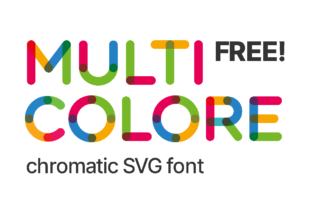 Print on Demand: Multicolore Color Fonts Font By neogrey