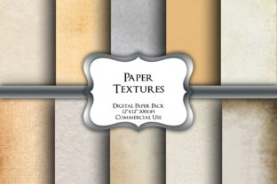 Print on Demand: Paper Textures Digital Paper Pack Graphic Backgrounds By Party Pixelz