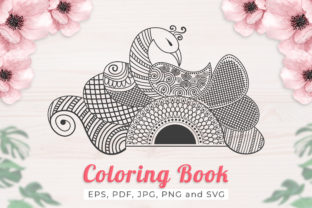 Peacock Mandala for Coloring Book Adult Graphic Coloring Pages & Books Adults By skdesignpro