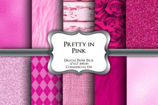 Print on Demand: Pretty in Pink Digital Paper Pack Graphic Backgrounds By Party Pixelz