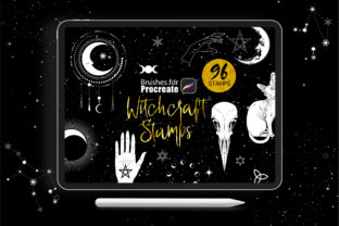 Procreate - Witchcraft Stamps Graphic Brushes By dibrush