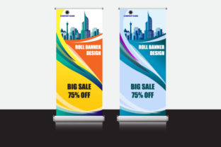 Roll Up - Big Sale Banner Promotion Graphic Print Templates By Koes Design