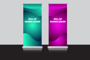 Roll Banner Blank Templates Graphic Print Templates By Koes Design