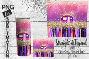 Print on Demand: Sublimation Tumbler Glamping Graphic Print Templates By Revidevi