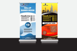 Vector Creative Roll Banner Design Graphic Print Templates By Koes Design