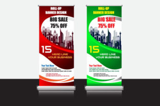 Vector Roll Up Banner Promotion Sale Graphic Print Templates By Koes Design
