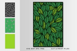 Wall Art 3D, Leaves SVG Graphic 3D SVG By 2dooart