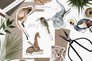 Wild Animals of Africa Illustrations PNG - 4