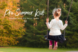 Print on Demand: 7 Pro Summer Kids Ps,ACR,LUT Filter Graphic Actions & Presets By 3Motional