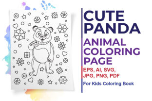 Cute Panda Coloring Page for Kids Graphic Coloring Pages & Books Kids By ArtXpert