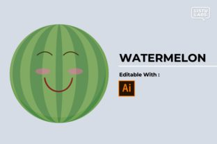 Emoticon - Fruit Watermelon #41 Graphic Icons By listulabs