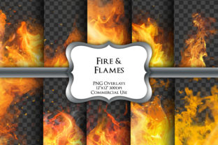 Print on Demand: Fire Overlays Transparent PNG Graphics Graphic Illustrations By Party Pixelz