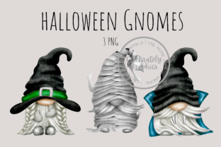 Print on Demand: Halloween Gnomes Clipart PNG Graphic Illustrations By Celebrately Graphics