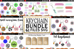 Keychain Huge Bundle Vol. 2 Svg Cut File Graphic Crafts By Cute files 1
