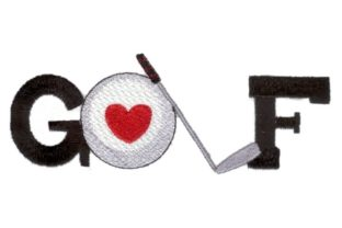 Love Golf Sports Embroidery Design By Sew Terific Designs