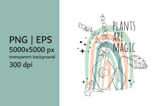 Print on Demand: Quote Plants Are Magic Sublimation Print Graphic Illustrations By neauth