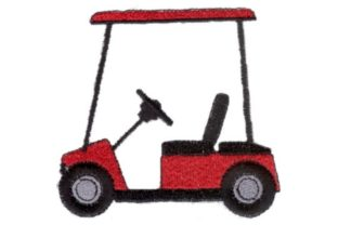 Red Cart Sports Embroidery Design By Sew Terific Designs