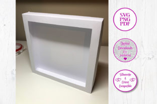 Shadow Box Card Stock Frame Template Graphic 3D Shadow Box By Jumbleink Digital Downloads